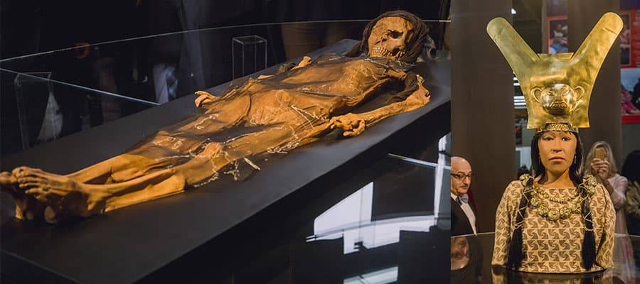 """The Lady of Cao mummy is currently in display in the Museum of """"El Brujo"""" Archaeological Complex"""