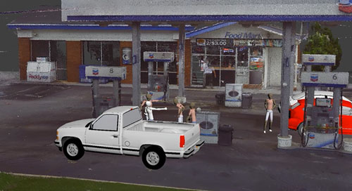 3D Laser Scanner positions jury at the scene of a murder