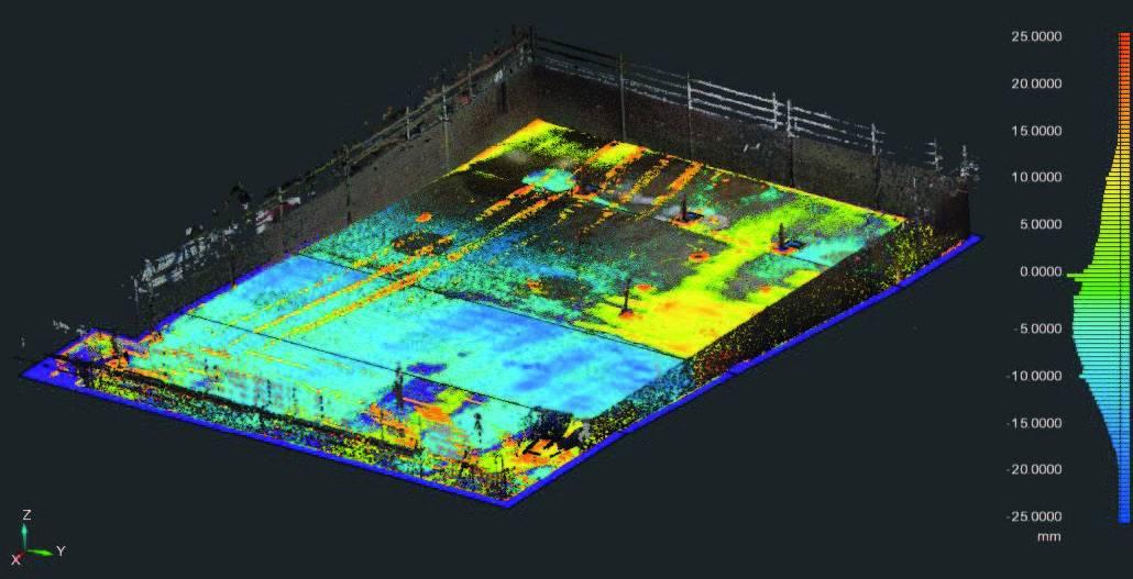 FARO BuildIT Construction Scan vs Model Surface Deviation Analysis