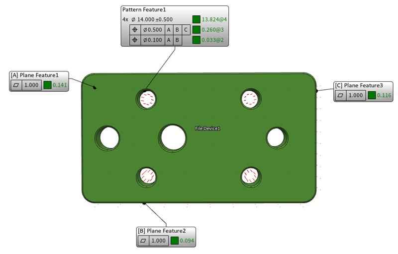 Two single-segmented position tolerancing