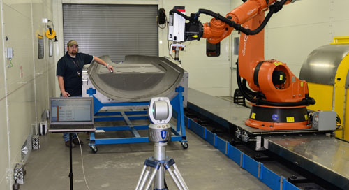 Cirrus Aircraft utilizes FARO Laser Tracker for robot calibration