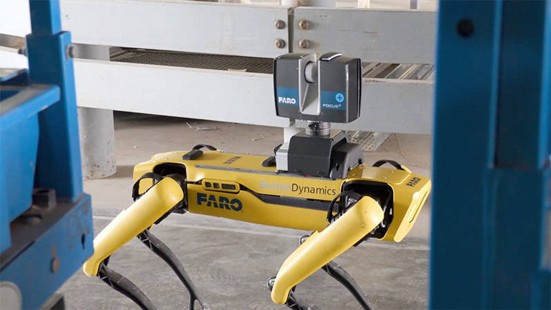 Laser scanning in construction made easy with a laser scanner mounted on a mobile robot