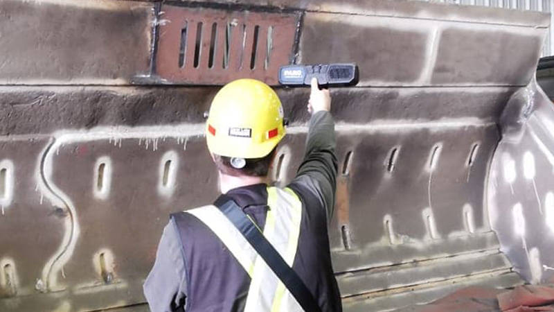 Heavy mining equipment frequently has complex,  curved pieces that are challenging to measure by hand.