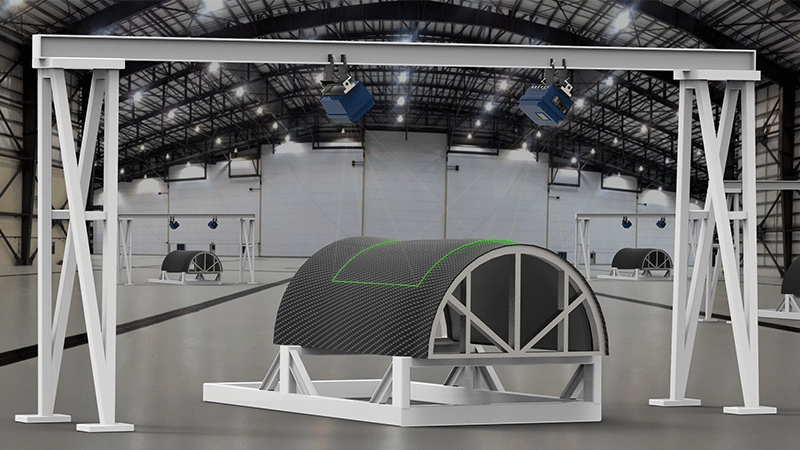 Projection for ply layup in a composites clean room