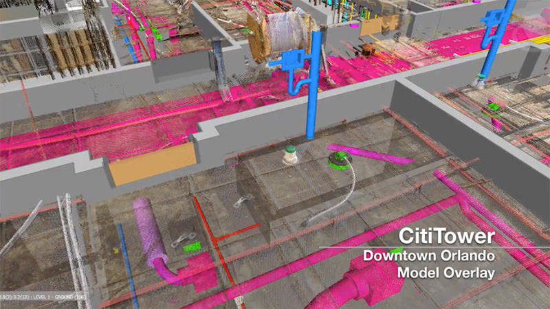 As-built data from CitiTower construction project captured with 3D laser scanners for quality control