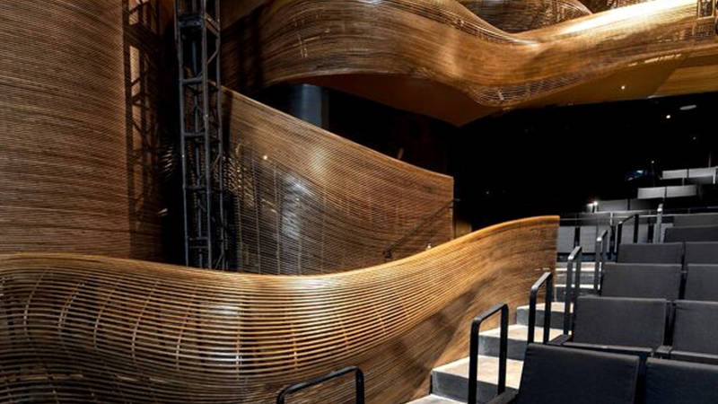 The interior of Atlanta's Alliance Theatre, made possible with BIM software tools
