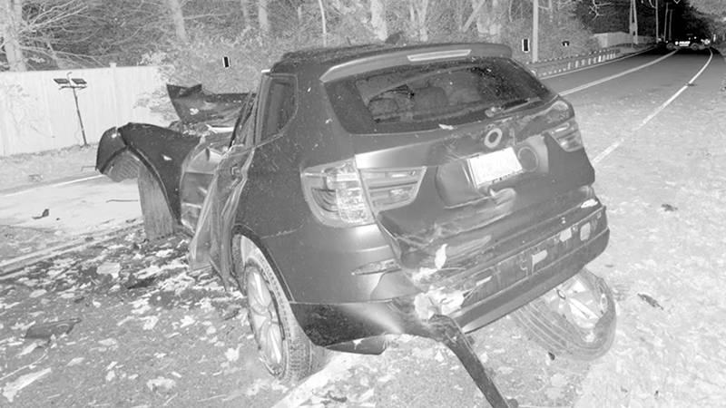 An image of a crash captured with a 3D laser scanner