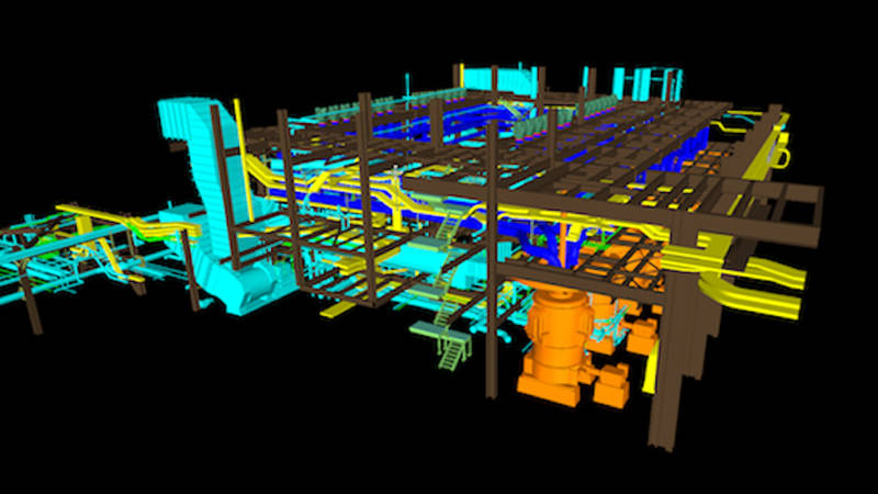 3D modeling used in an industrial facility construction project