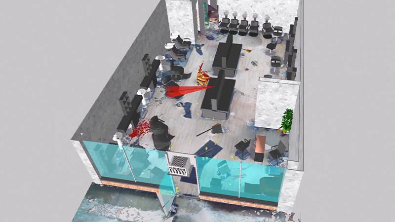 3D modeling of a crime scene for courtroom presentation